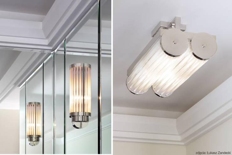 Apartament inspirowany Art Deco - detal: styl , w kategorii Korytarz, hol i schody zaprojektowany przez Pracownia Projektowa Pe2