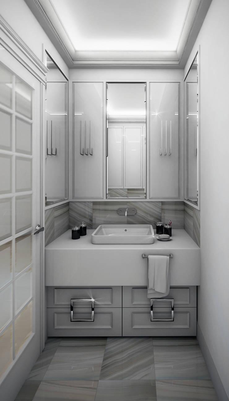 wizualizacja do projektu domu w stylu New Modern: styl , w kategorii Łazienka zaprojektowany przez Pracownia Projektowa Pe2