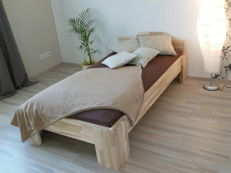 Спальная комната  в . Автор – Baßner Holzbau