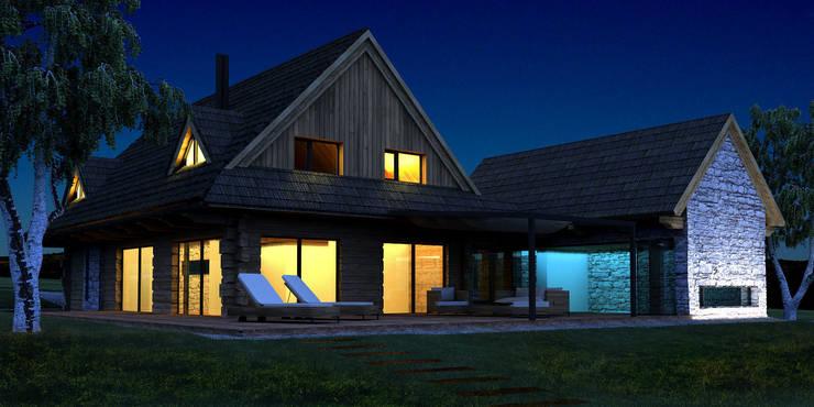 dom w Banicy: styl , w kategorii  zaprojektowany przez DOMY GORALSKIE