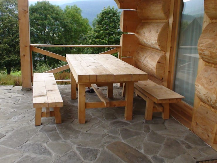 dom w Zawoi: styl , w kategorii  zaprojektowany przez DOMY GORALSKIE