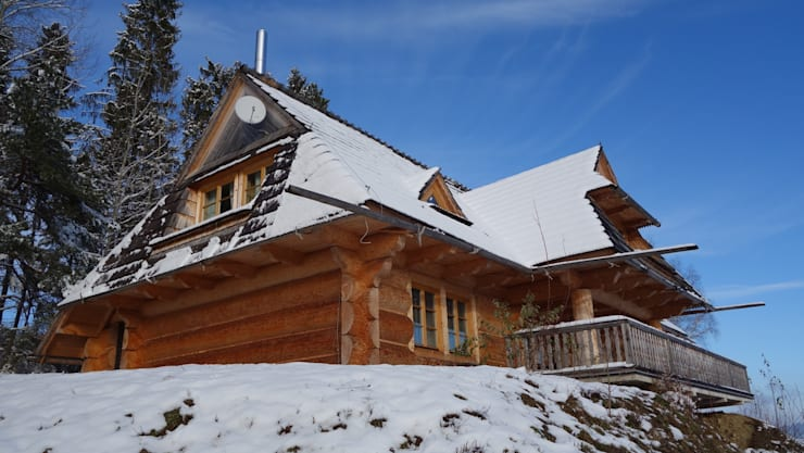 dom w Białce Tatrzańskiej: styl , w kategorii  zaprojektowany przez DOMY GORALSKIE