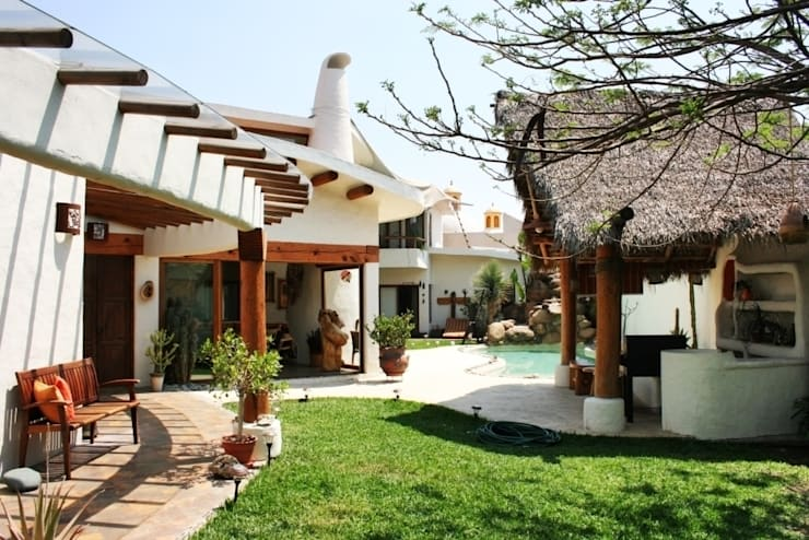 Jardín con Palapa: Jardines de estilo  por Cenquizqui
