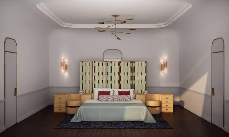 Основная спальня: Спальни в . Автор – Line In Design