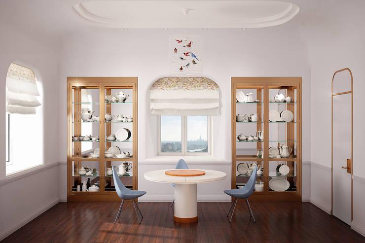Комната для завтраков - сервировочная: Столовые комнаты в . Автор – Line In Design