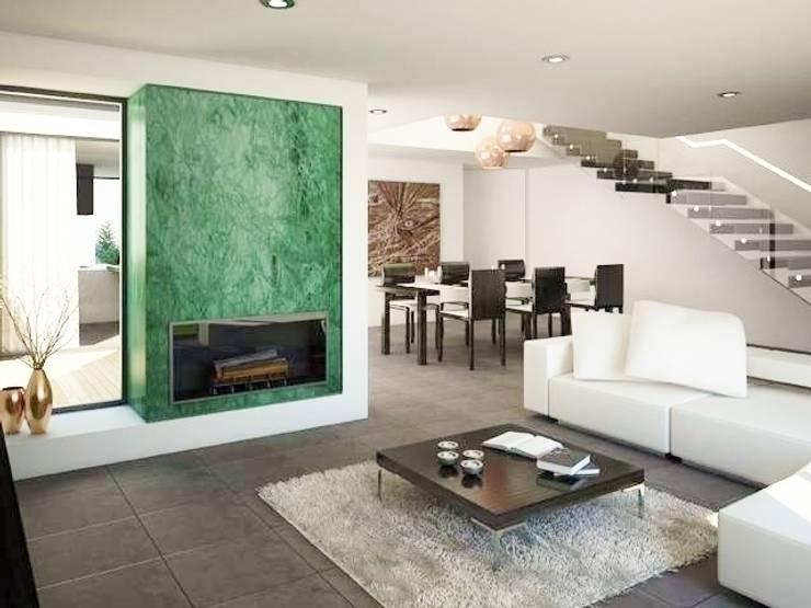 Evergreen: Salas de estar  por Imoproperty - Real Estate & Business Consulting