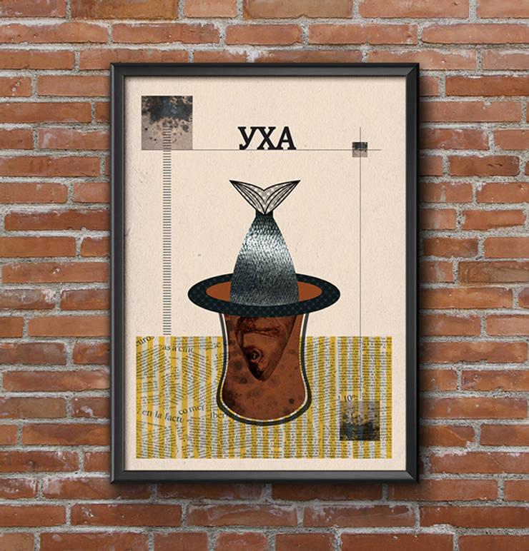 Постеры для сербского ресторана в Москве: Произведения искусства в . Автор – Line In Design