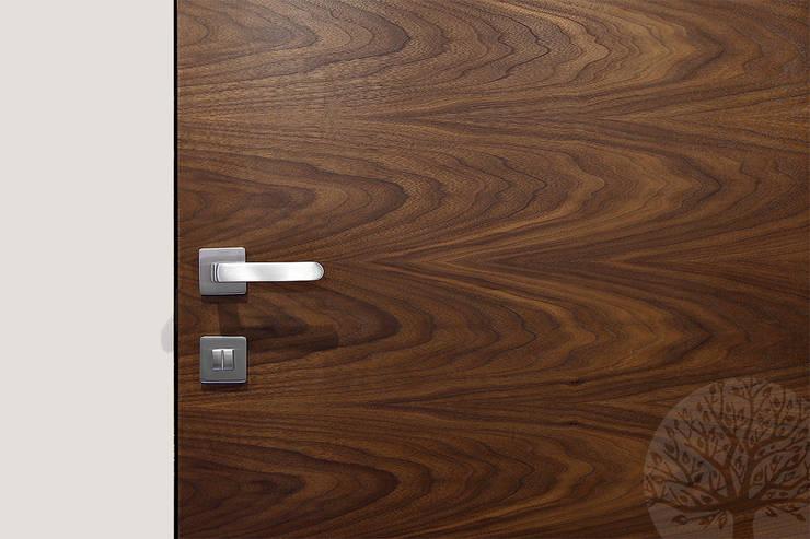 Скрытые двери шпон орех : Окна и двери в . Автор – Lesomodul