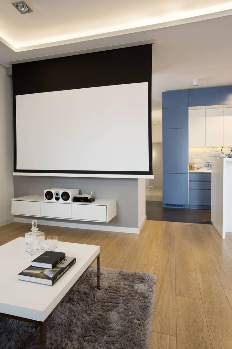 MIESZKANIE 75m2_WARSZAWA_ŻOLIBORZ: styl , w kategorii Salon zaprojektowany przez I Home Studio Barbara Godawska