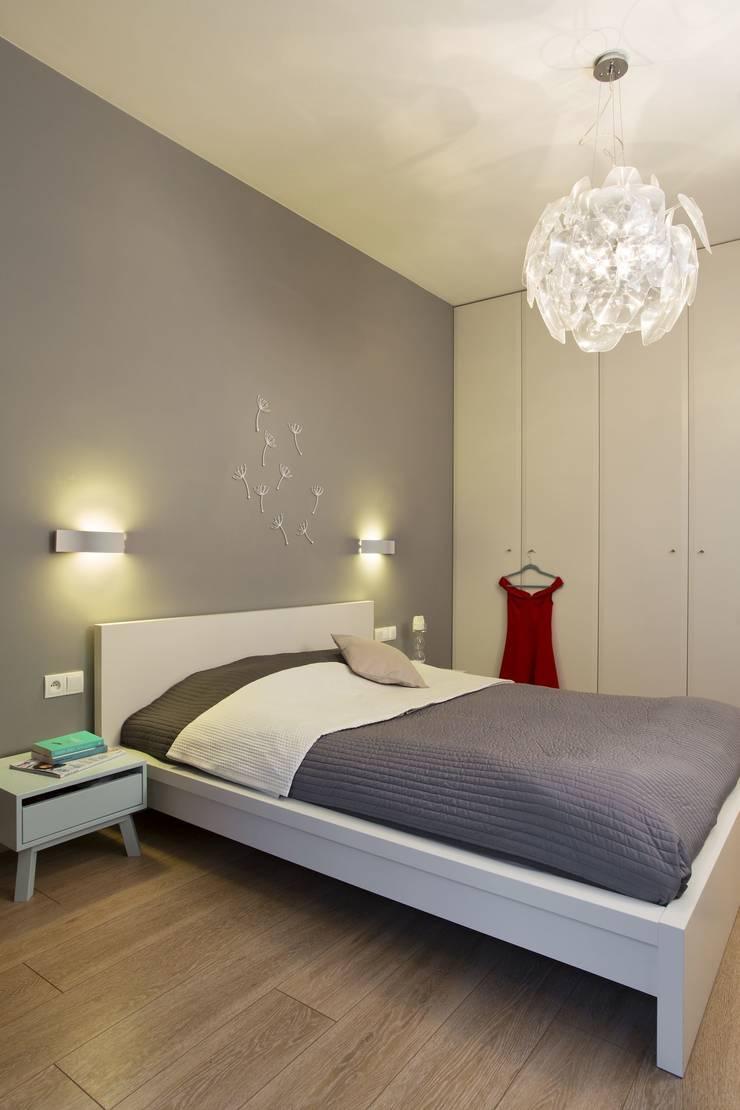 MIESZKANIE 75m2_WARSZAWA_ŻOLIBORZ: styl , w kategorii Sypialnia zaprojektowany przez I Home Studio Barbara Godawska