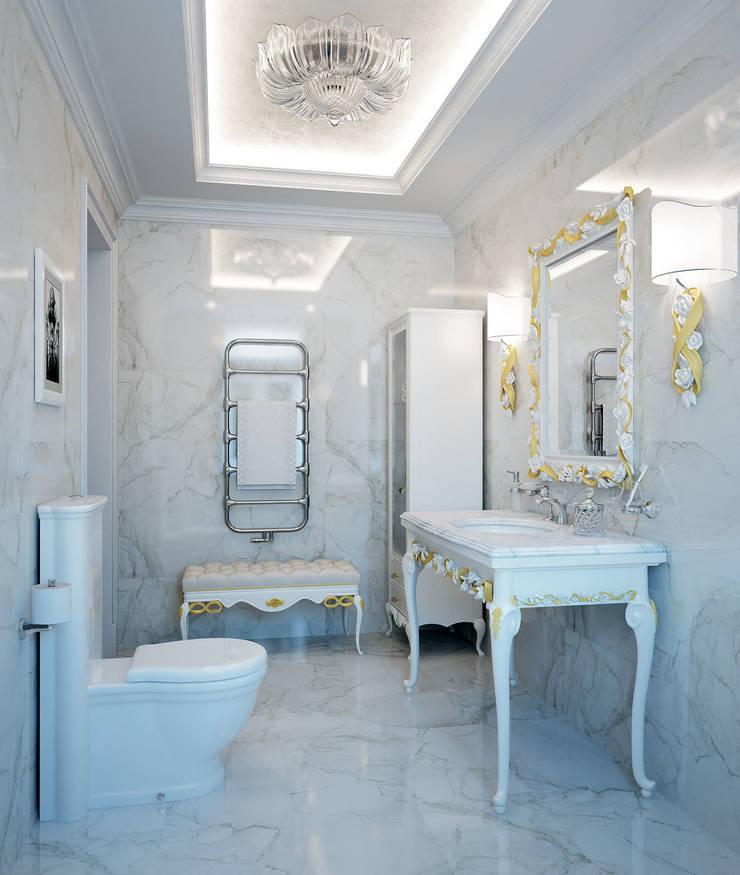Гостевой санузел: Ванные комнаты в . Автор – Частный дизайнер,