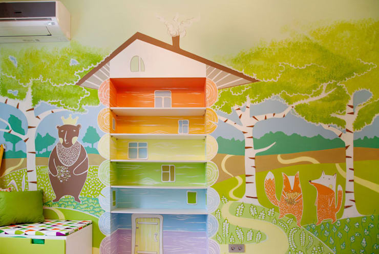 Роспись стен в детской комнате. : Детская комната в . Автор – «Студия 3.14»