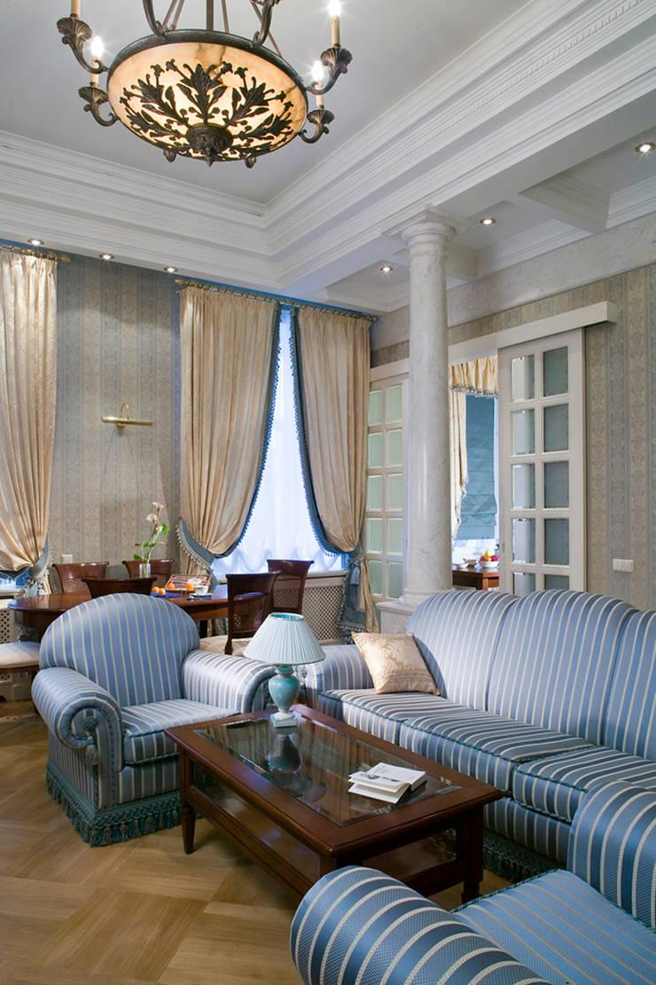 Квартира в классическом стиле: Гостиная в . Автор – Fusion Design