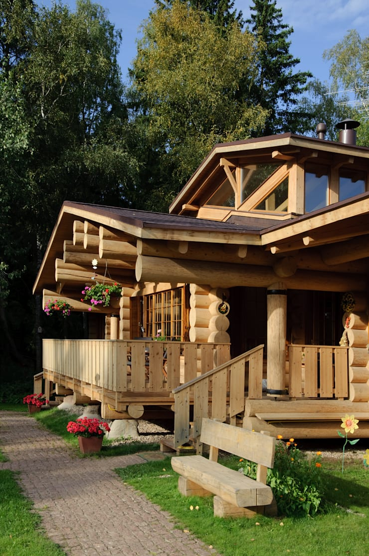 Загородный дом в поселке Кузнецово:  в . Автор – Проект ОБЛО