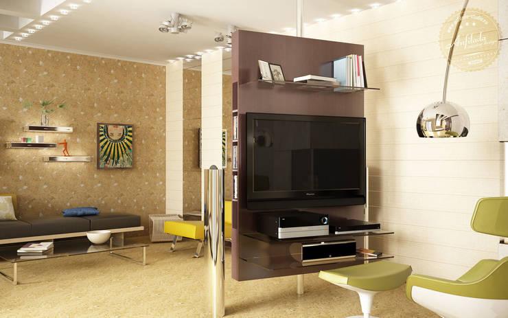 Гостиная в экостиле: Гостиная в . Автор – Anfilada Interior Design, Скандинавский