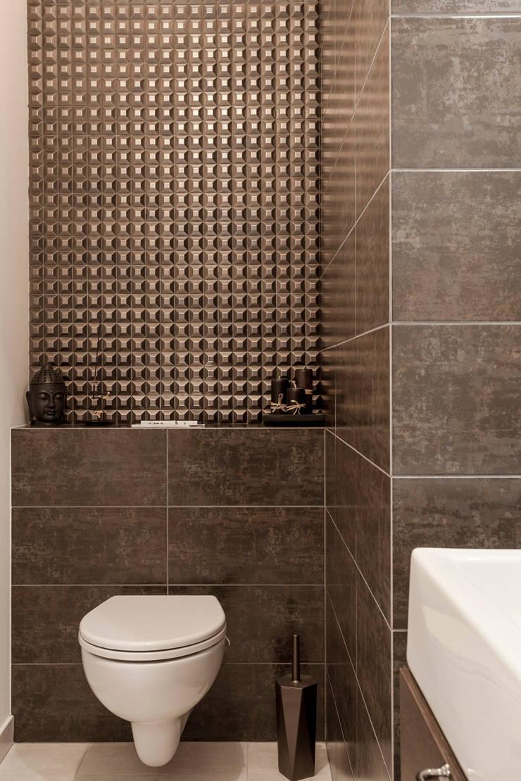 WC: styl , w kategorii Łazienka zaprojektowany przez KODO projekty i realizacje wnętrz