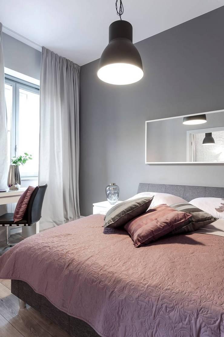 Sypialnia z kącikiem do pracy: styl , w kategorii Sypialnia zaprojektowany przez KODO projekty i realizacje wnętrz