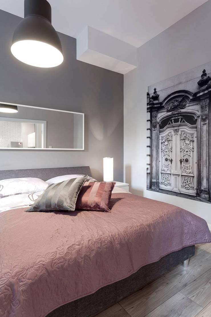 Sypialnia: styl , w kategorii Sypialnia zaprojektowany przez KODO projekty i realizacje wnętrz