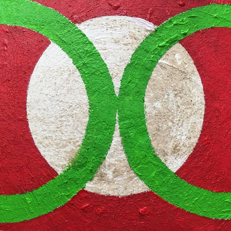 Cirkels formaat 700 x 700 mm linnen : modern  door Grothausen BNI , Modern