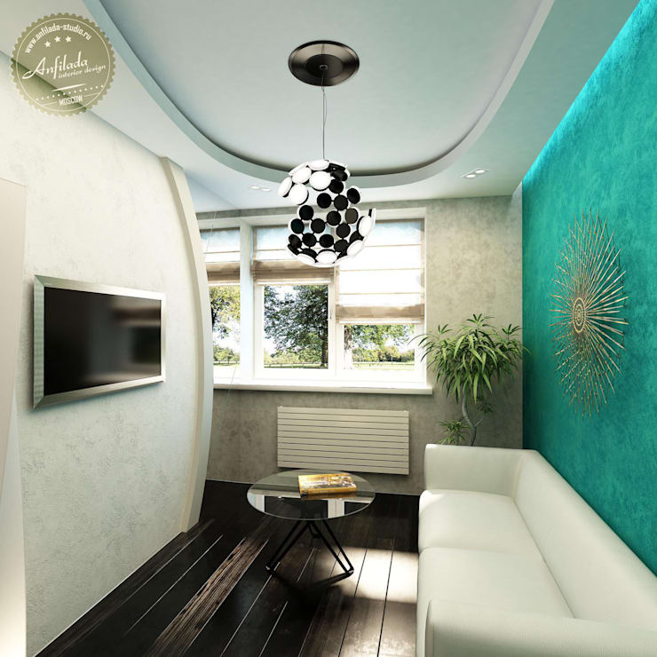 Лаконичная гостевая: Гостиная в . Автор – Anfilada Interior Design