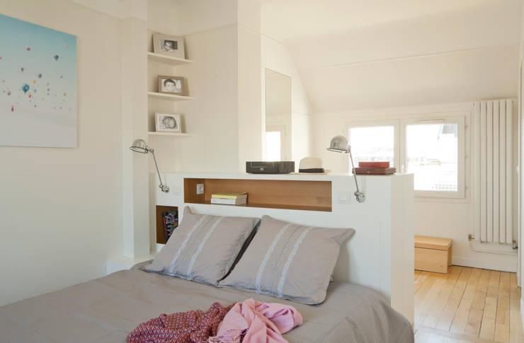 Un Duplex revisité -Neuilly: Chambre de style de style Moderne par ATELIER FB
