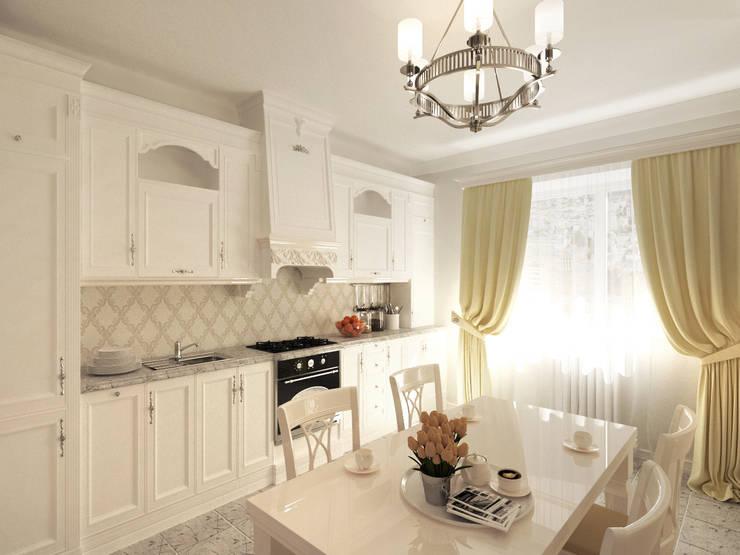 Неоклассика: визуализация, частичный дизайн : Кухни в . Автор – OK Interior Design