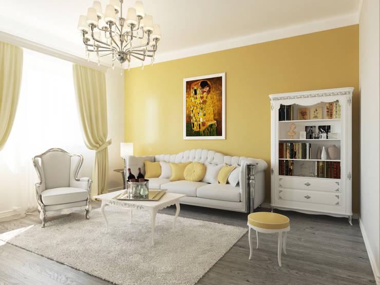 Неоклассика: визуализация, частичный дизайн : Гостиная в . Автор – OK Interior Design