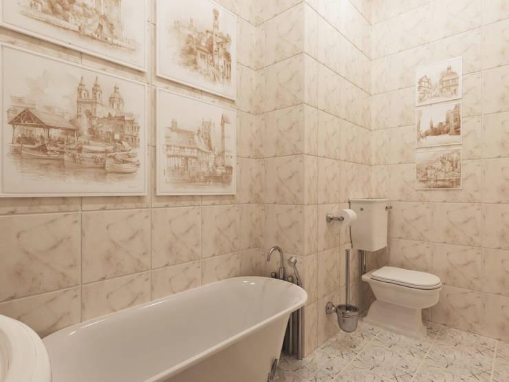 Неоклассика: визуализация, частичный дизайн : Ванные комнаты в . Автор – OK Interior Design