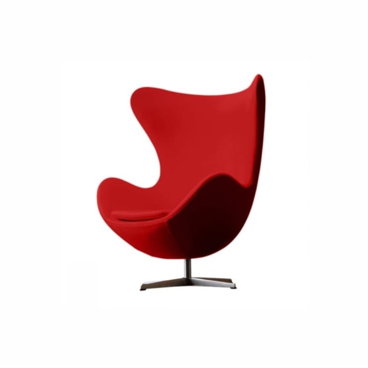 fotel Egg, Fritz Hansen: styl , w kategorii Salon zaprojektowany przez Mootic Design Store