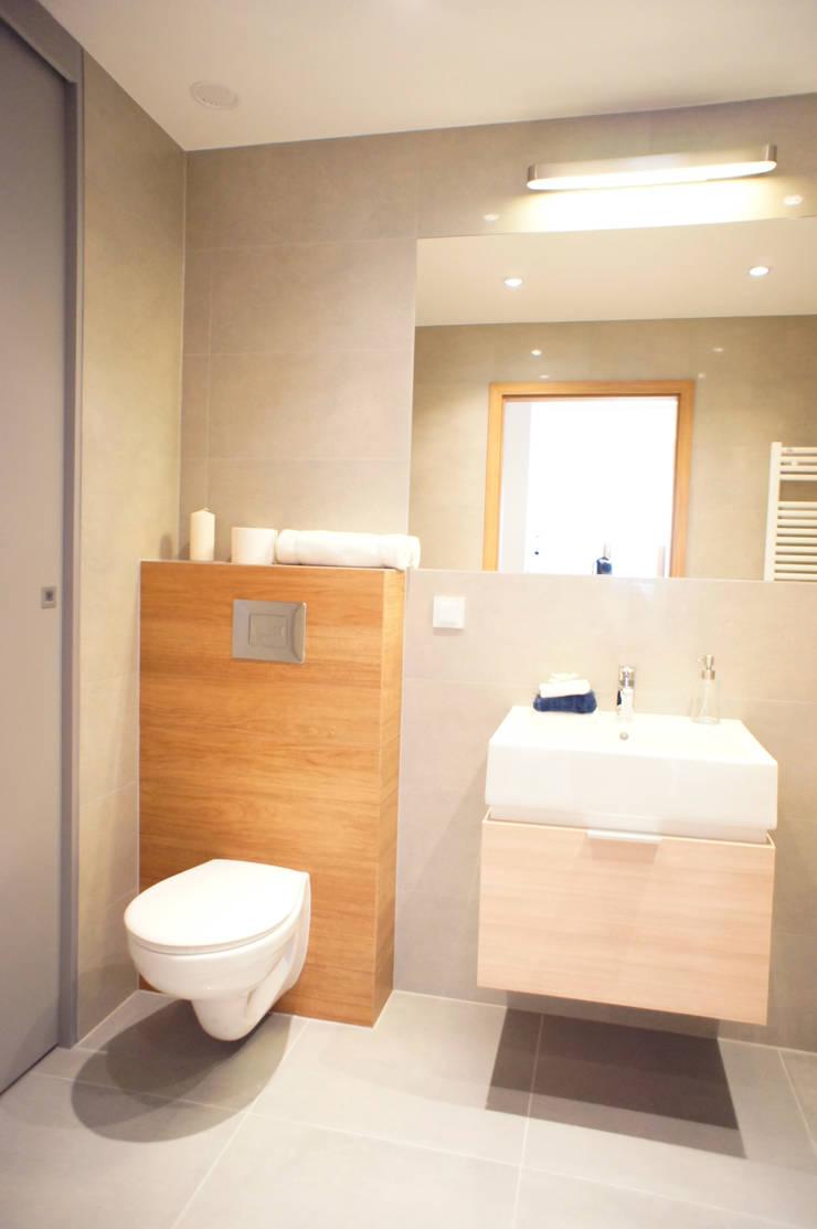 wnętrze mieszkania 68 m2: styl , w kategorii Łazienka zaprojektowany przez Mootic Design Store