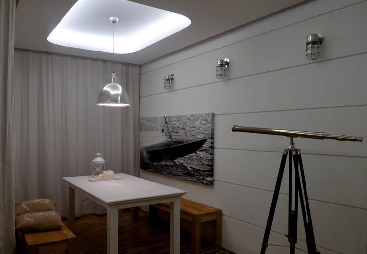 Apartament Waterlane Gdańsk: styl , w kategorii Jadalnia zaprojektowany przez Ostańska design,