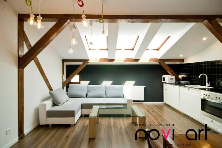 K12 apartament Kraków: styl , w kategorii Salon zaprojektowany przez Novi art