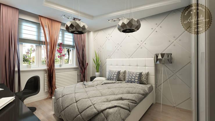 Цветной монохром: Спальни в . Автор – Anfilada Interior Design,