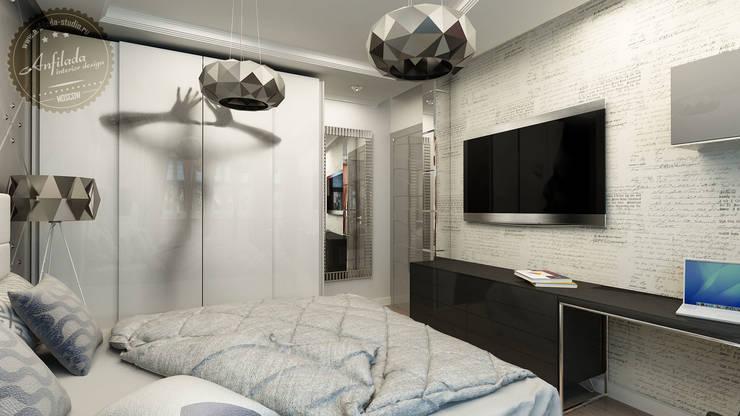 Цветной монохром: Спальни в . Автор – Anfilada Interior Design