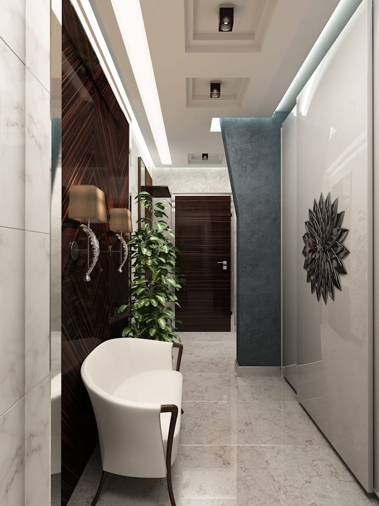 Прихожая в нейтральных тонах: Коридор и прихожая в . Автор – Anfilada Interior Design