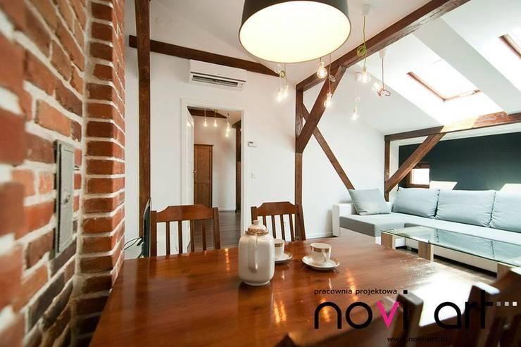 K12 apartament Kraków: styl , w kategorii Jadalnia zaprojektowany przez Novi art