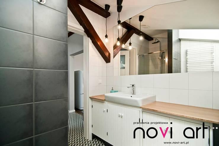 K12 apartament Kraków: styl , w kategorii Łazienka zaprojektowany przez Novi art