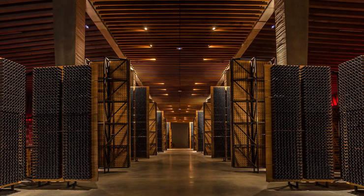 La carpintería técnica de Bodegas Portia: Bodegas de estilo  de SPIGOGROUP