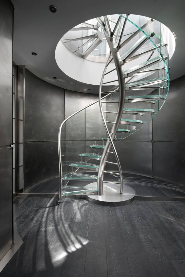 Helical Stairs Glass TWE707: modern  door EeStairs | Stairs and balustrades, Modern Glas