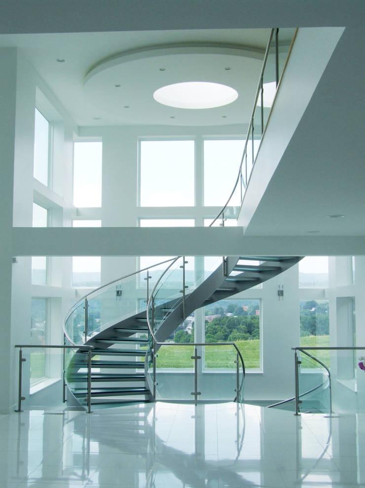 Helical Stairs Glass TWE622: modern  door EeStairs | Stairs and balustrades, Modern Glas