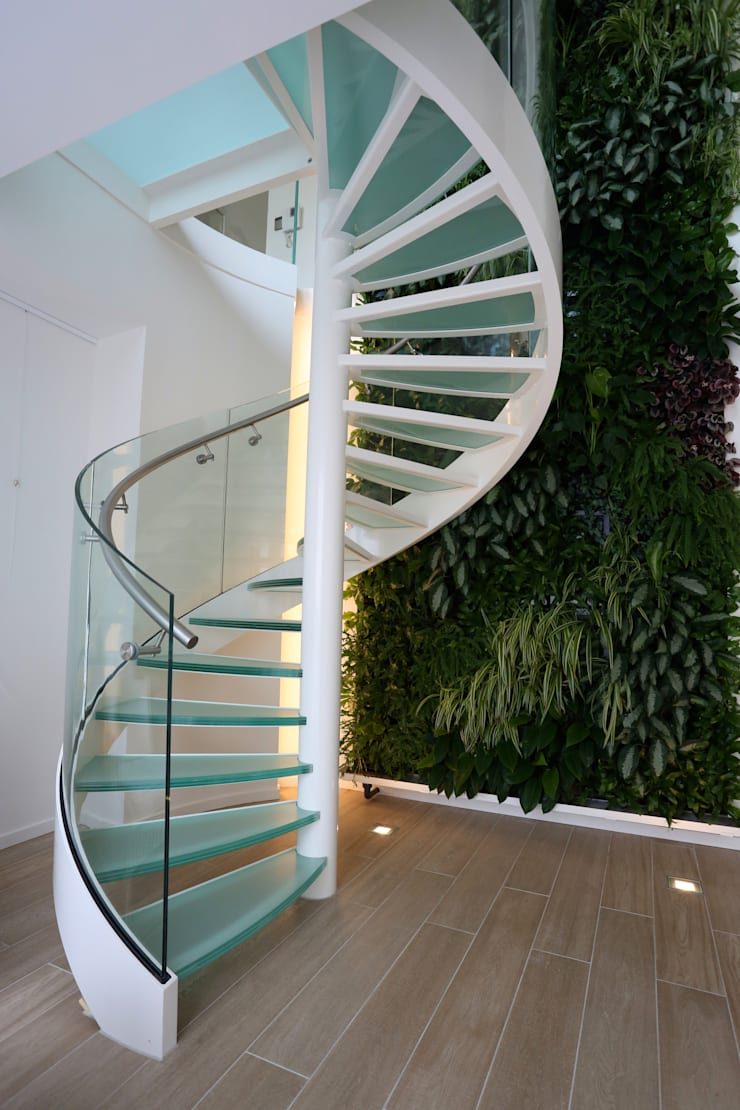 Spiral Stairs Glass TSE636: modern  door EeStairs | Stairs and balustrades, Modern Glas