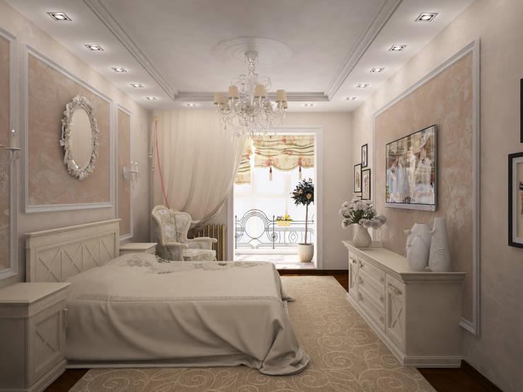 Французский дворик на балконе: Спальни в . Автор – Гурьянова Наталья
