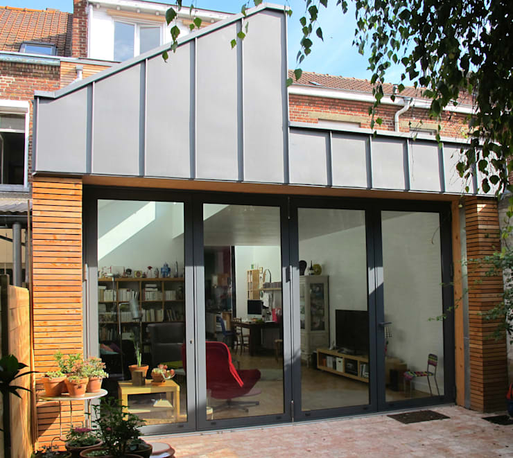 Extension et aménagement d'une maison de ville : Maisons de style  par F. DEMAGNY ARCHITECTE