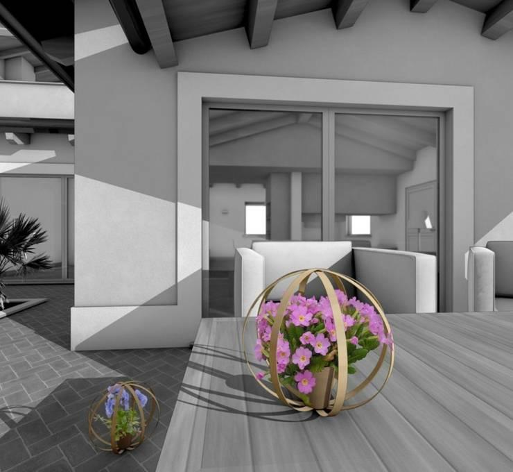 Rendering : Giardino in stile  di Stefania Lorenzini garden designer