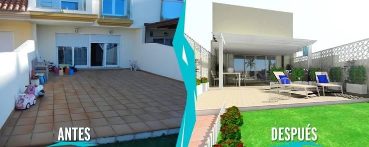 Proyecto de Diseño y Decoración de Terraza en Vivienda Unifamiliar:  de estilo  de CARMAN INTERIORISMO