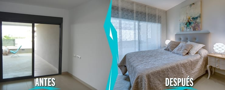 Dormitorio. Proyecto Vivienda Unifamiliar Planta Baja:  de estilo  de CARMAN INTERIORISMO