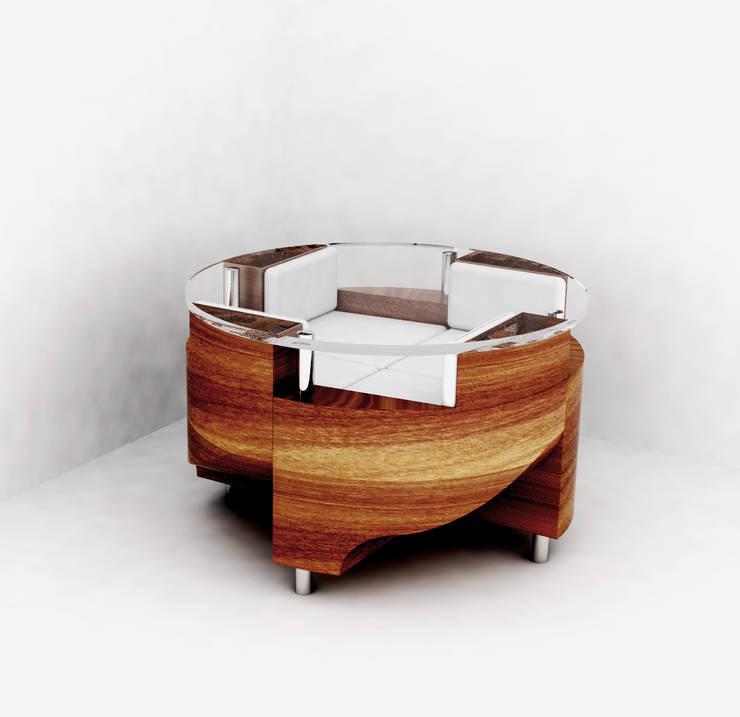 Sala da pranzo in stile in stile Moderno di Conception d'intérieur - Jill Darbellay