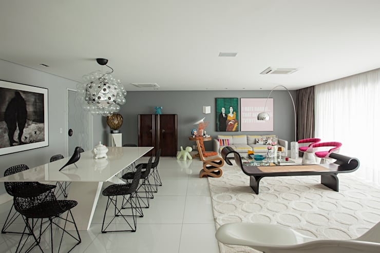 Living room by Rodrigo Maia Arquitetura + Design