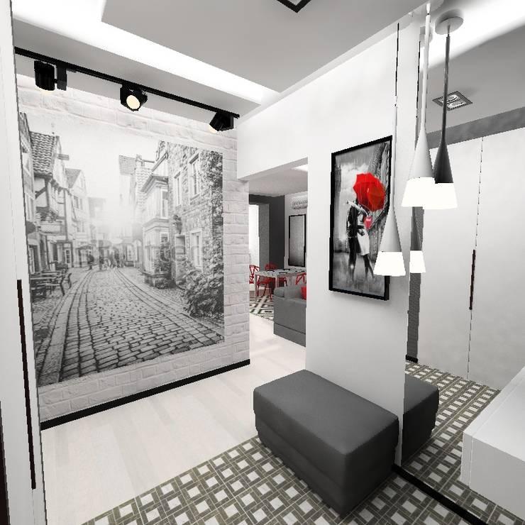 Черно-белая квартира: Коридор и прихожая в . Автор – Design&Interior Krasilnikova