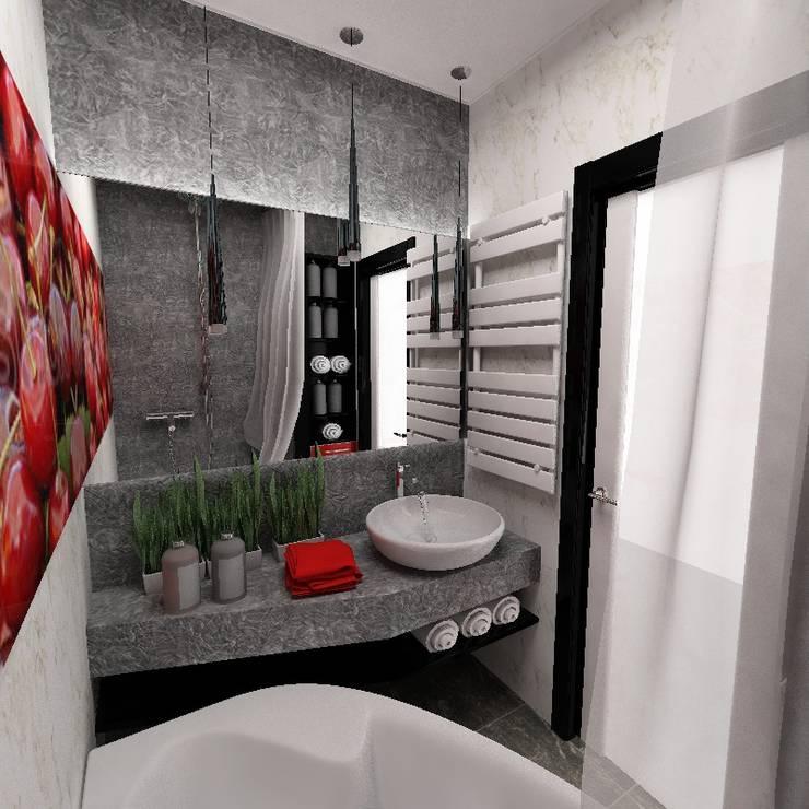 Черно-белая квартира: Ванные комнаты в . Автор – Design&Interior Krasilnikova